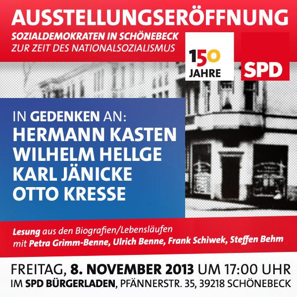 """Ausstellungseröffnung """"Sozialdemokraten in Schönebeck  zur Zeit des Nationalsozialismus"""""""