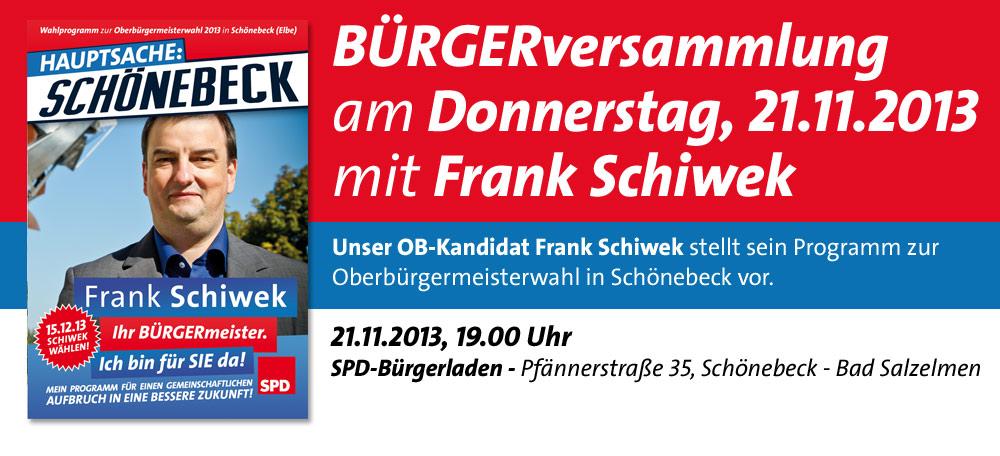 Einladung zur BÜRGERversammlung am 21.11.2013