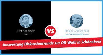Inhaltliche Auswertung des Kandidatenforums des Ortsvereins zur Stichwahl um das Amt des Oberbürgermeisters der Stadt Schönebeck
